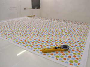 Our enormous cutting table