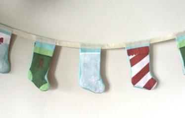 DIY Christmas Stocking Bunting