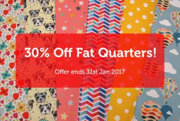 30% Off All Fat Quarters!
