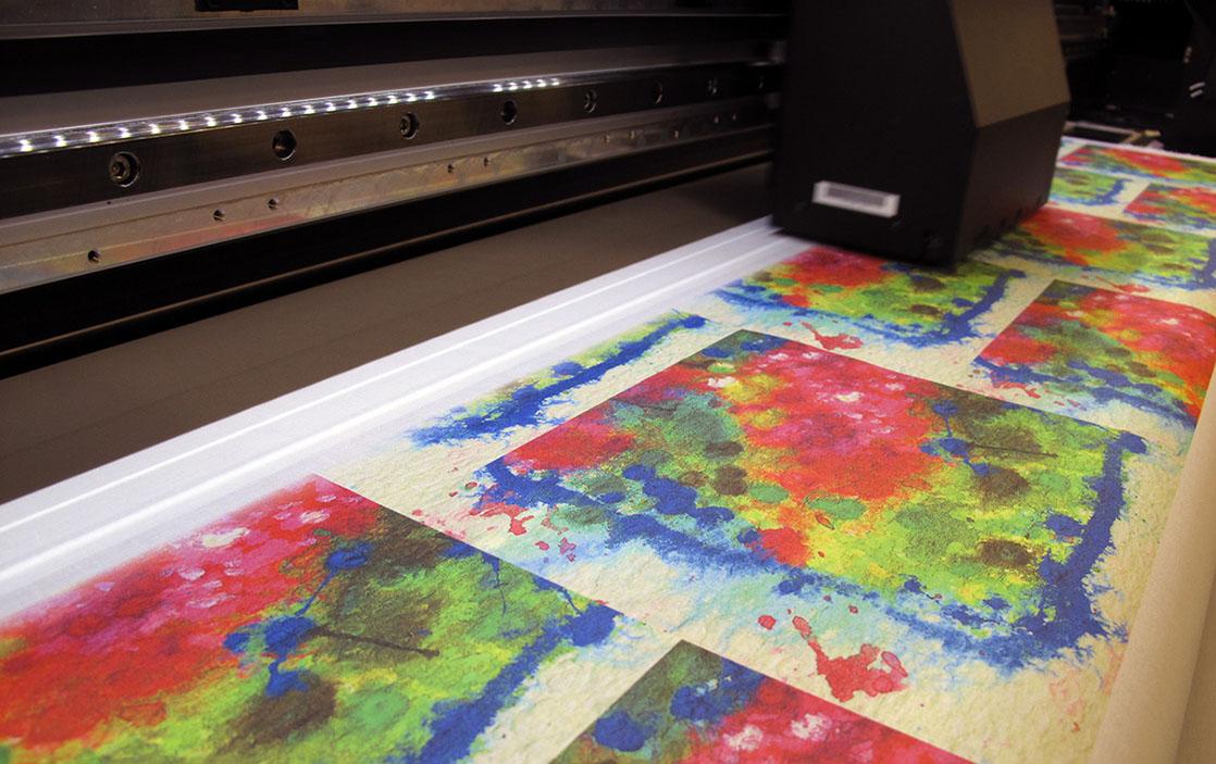 Digital Textile Printing Onto Cotton Woven Monkey